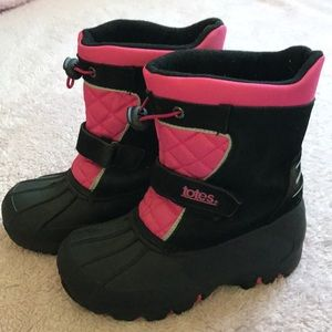 Totes Girls Snow/Rain Boots Size 1M